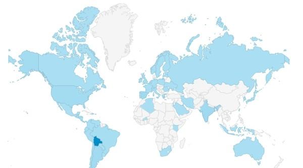 Mapa de accesos a vivirENbolivia.net   MÚSICA (Mayo 2015)