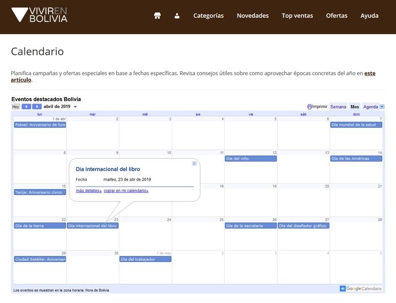 ¿Puede un calendario aumentar tus ventas?, VENBO