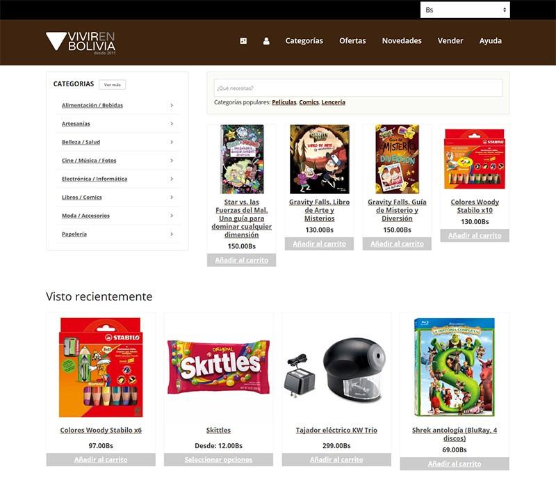 Cambios de diseño en la portada del marketplace